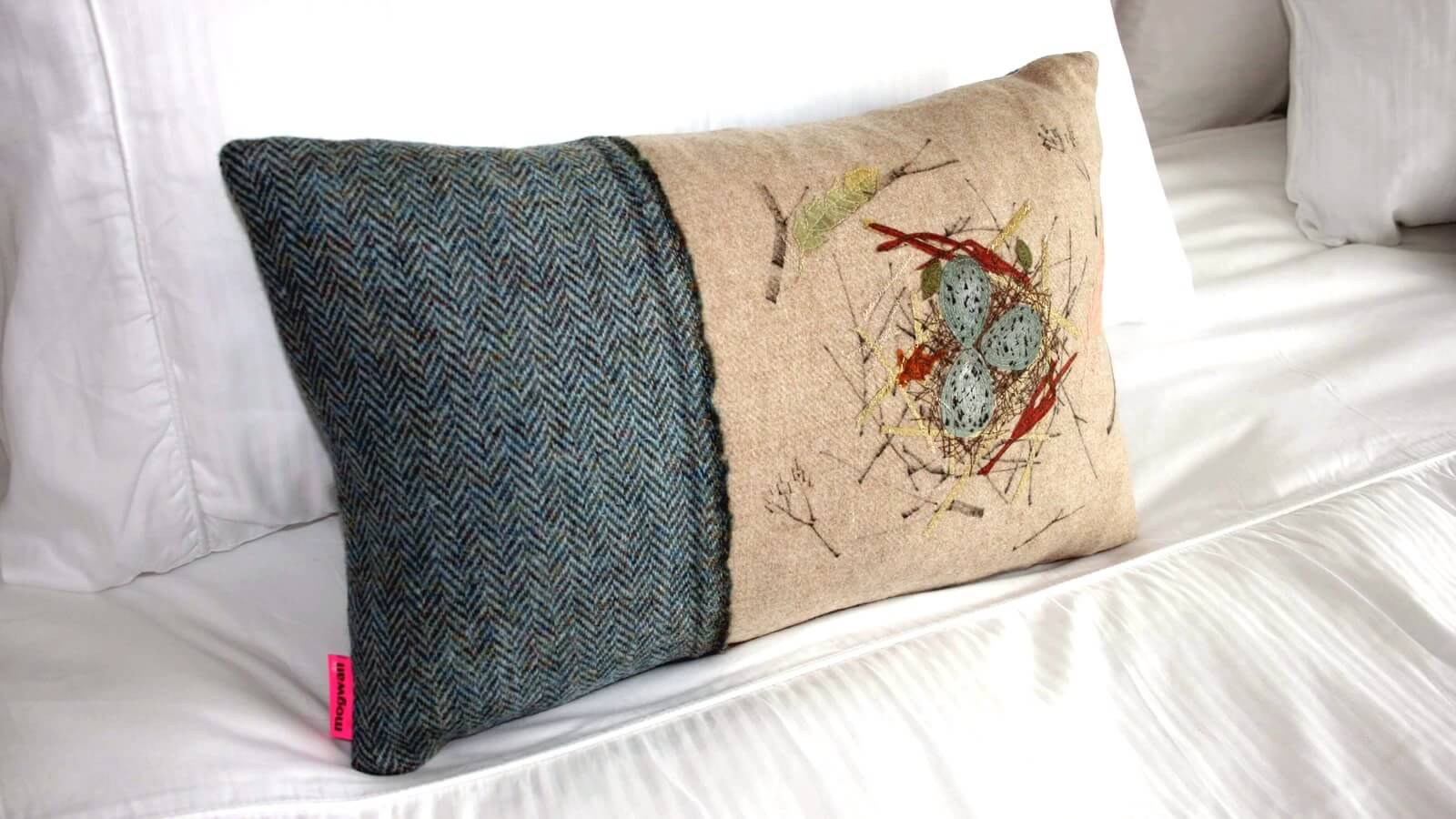 Hand made Harris Tweed cushions from Mogwaii