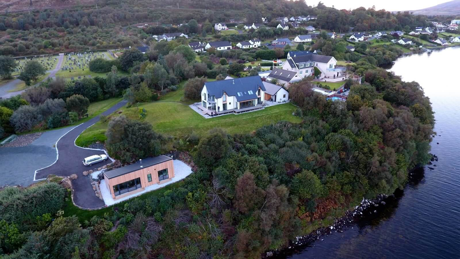 Air an Oir Self Catering aerial view, west