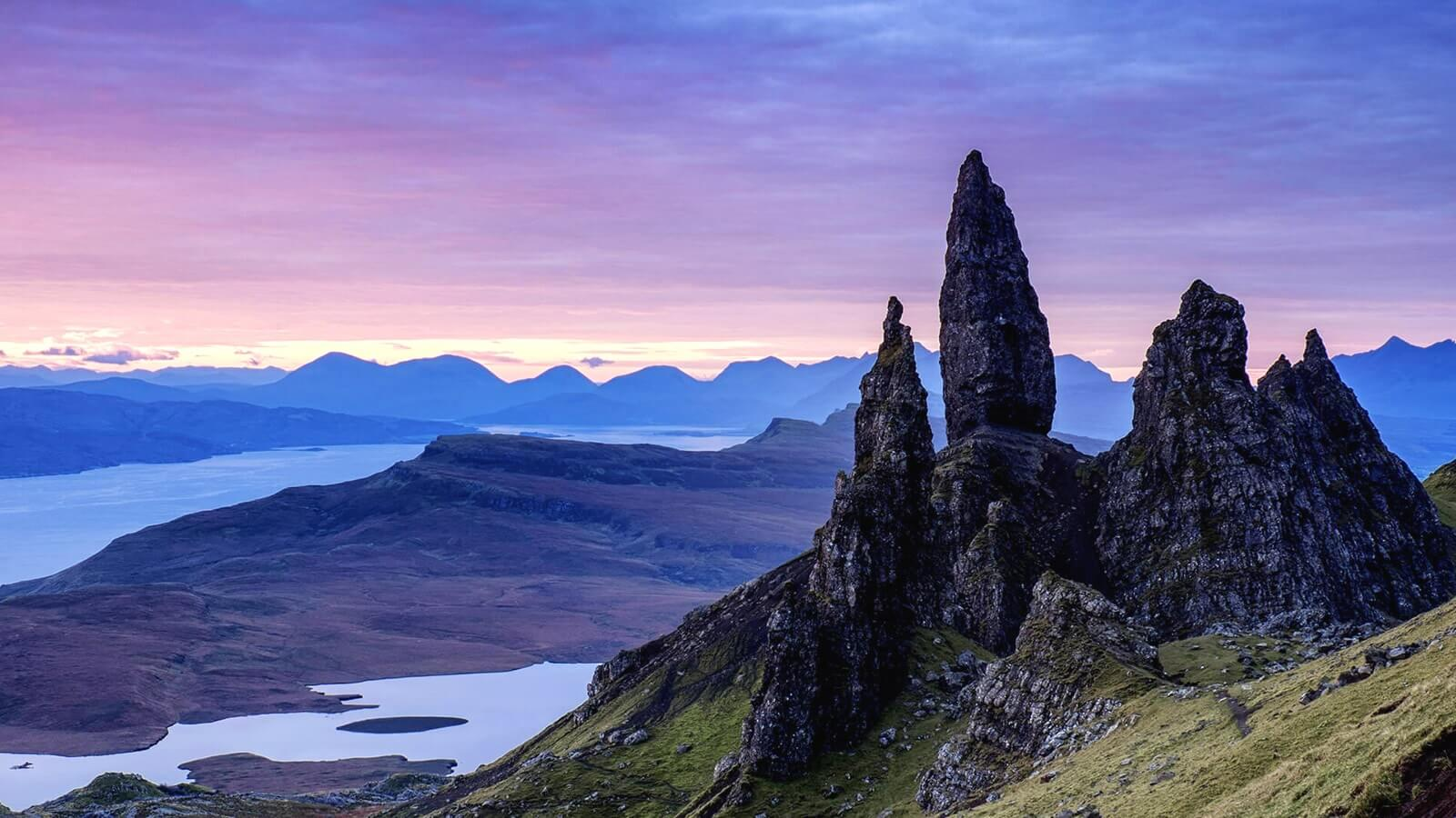 The Old Man of Storr can be seen from Air an Oir